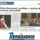 Un article dans La Renaissance-le Bessin suite à la date à Trévières